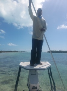 Bonefish Guide Reno Rolle Exuma, Bahamas